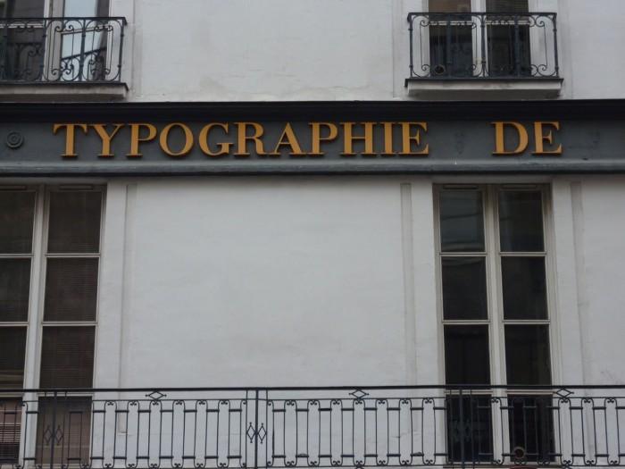 Typographie de