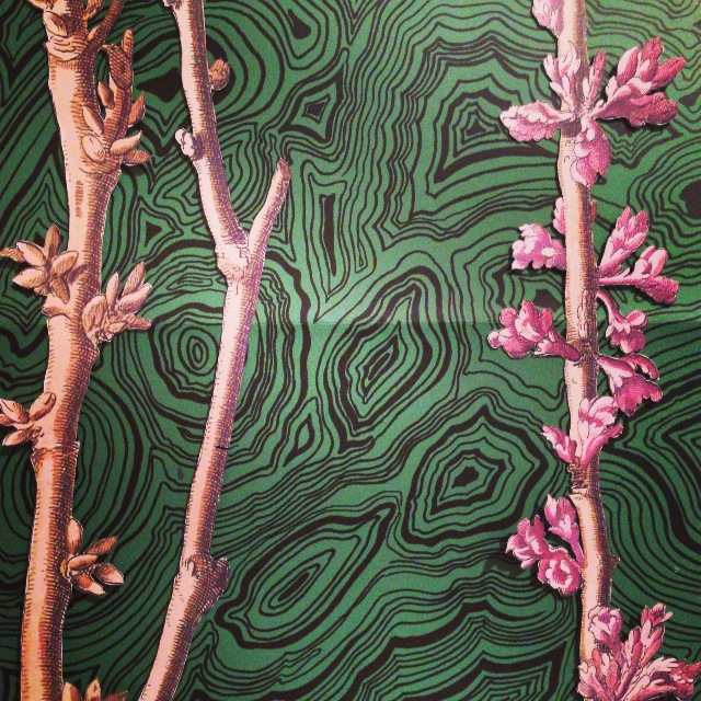 Batty Langely Blossoms meets Fornasetti Malachite.